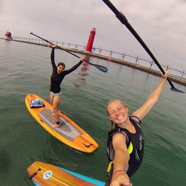 Stand Up Paddle Boarding In Grand Haven. Photo credit: Instagramer @haileywatkins210