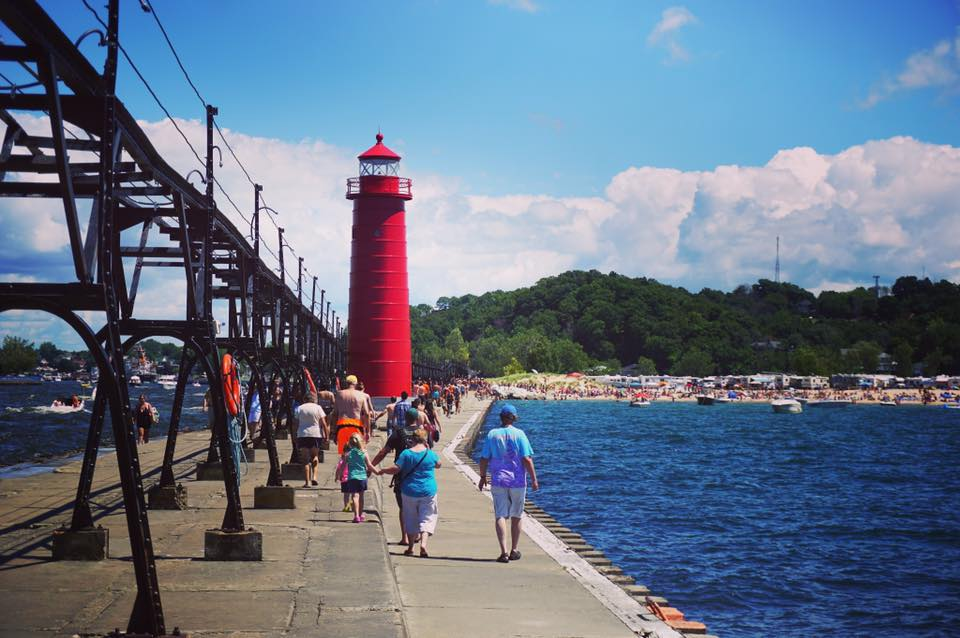 Grand Haven Lighthouse and Pier - Grand Haven, Michigan. Photo credit: Ryan Wenk