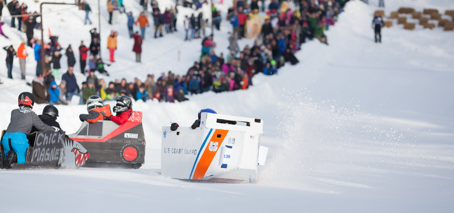 Grand Haven Winterfest Cardboard Sled Race - Photo: Randy Riksen Photography