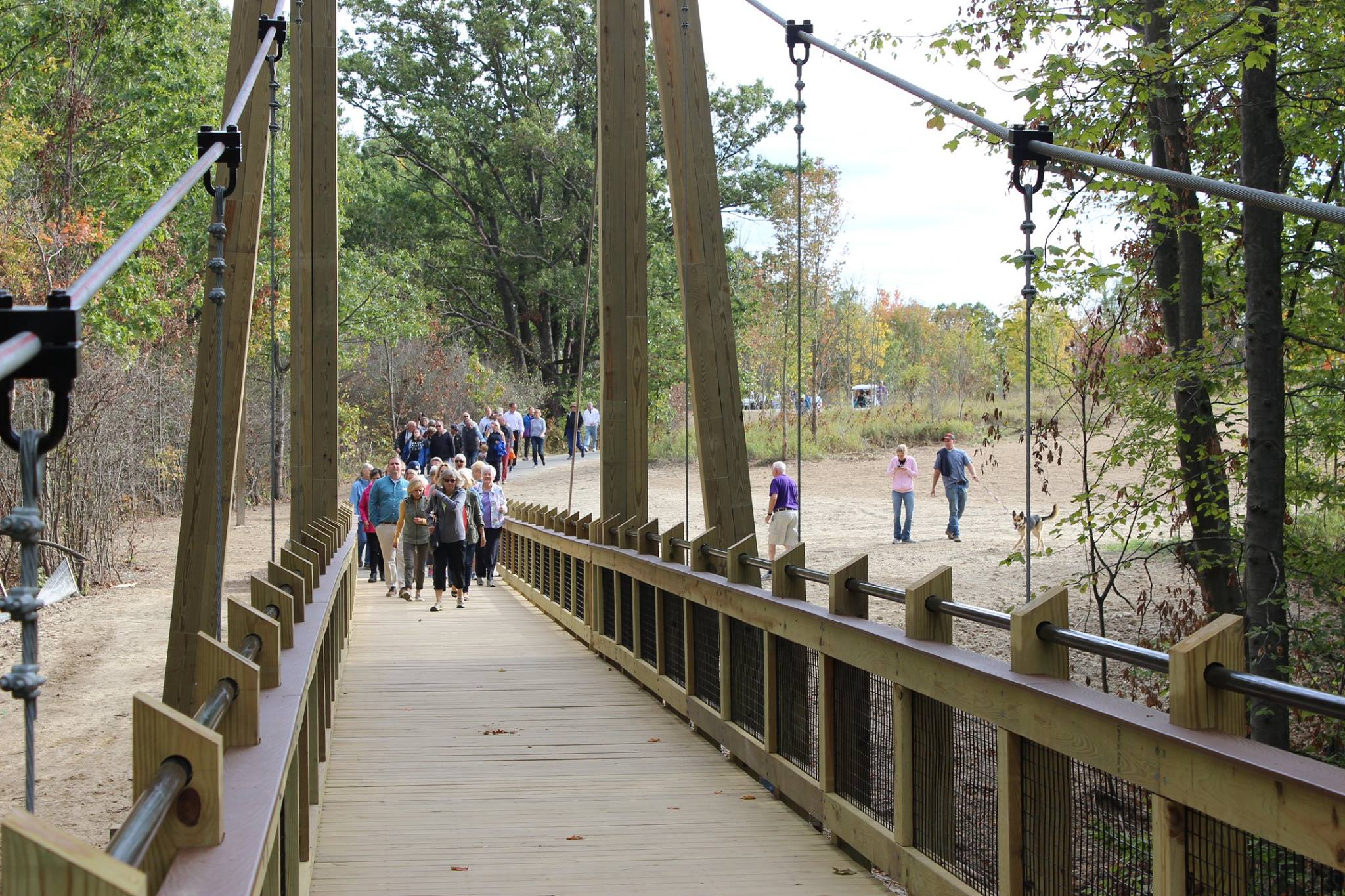 Ottawa County Parks Suspension Bridge - Photo Courtesy of Ottawa County Parks