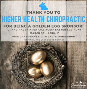 higher health chiropractic holland easter egg hunt