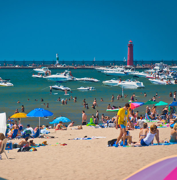 Grand Haven Is A Usa Today Best Freshwater Beach Nominee